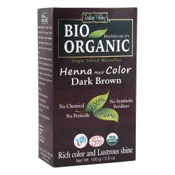 Био билкова боя за коса - тъмнокестеняво 100 г