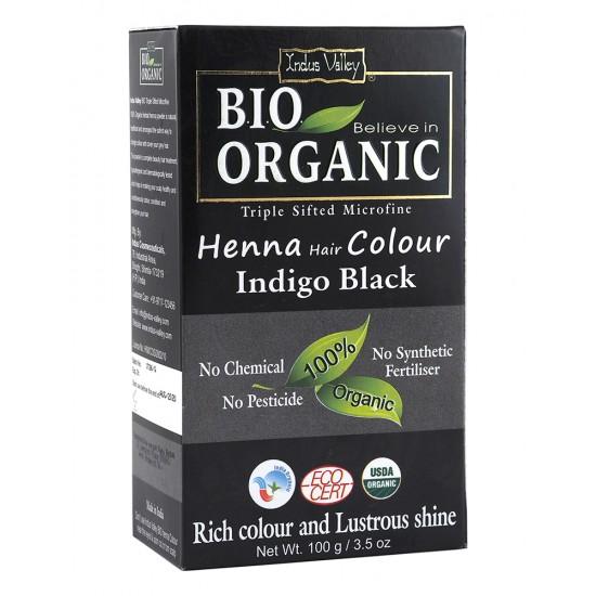Био билкова боя за коса - черно 100 г