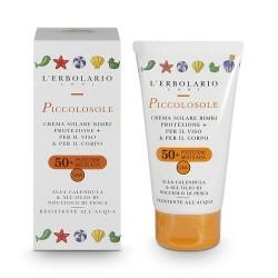 Слънцезащитен крем за деца с невен и олио от ядки на праскова SPF50 - 75мл.