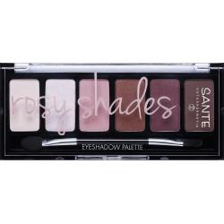 Био палитра сенки за очи - 01 Rosy Shades - 6 цвята