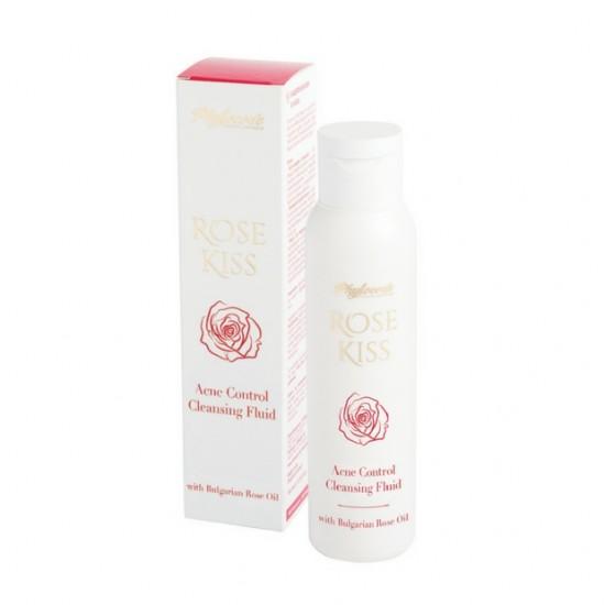 Анти-акне почистващ флуид Rose Kiss - 100мл.
